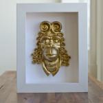 "Framed Original Sculpture ""Ces gens son des animoux"", by Zach Custer.  $300"