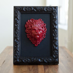 Framed Lion Sculpture, by Zach Custer.  $150