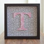 Framed Monogram T.  $30