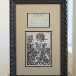 Vintage etching, circa 1930. $150
