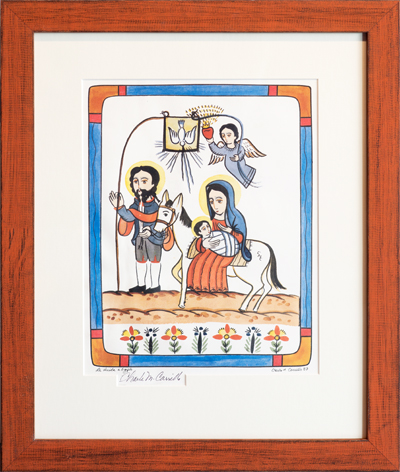Mexican folk art of nativity scene.