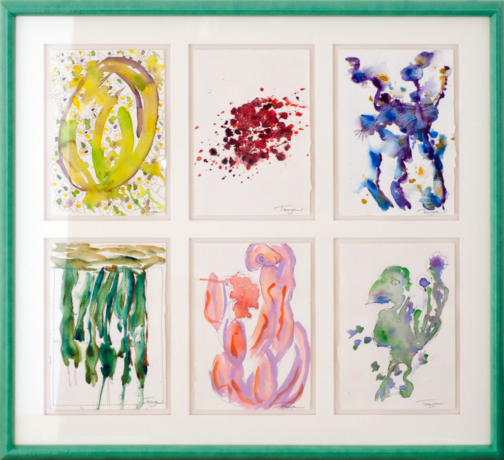 Series of 6 original watercolors in one picture frame.